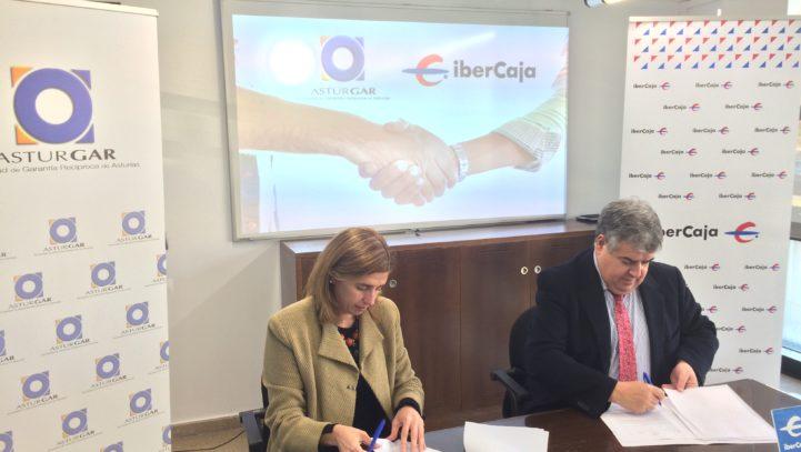 Asturgar e Ibercaja acuerdan abrir una línea de 1.000.000 de euros para facilitar la financiación de las pymes asturianas